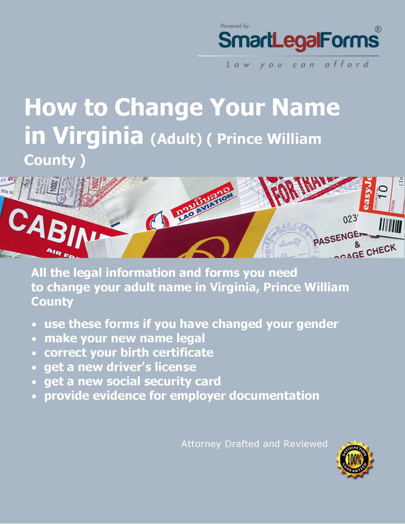 Virginia Name Change (Adult) (Prince William County) - SmartLegalForms