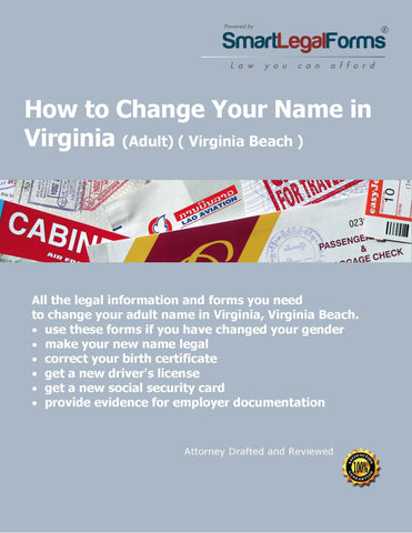Virginia Name Change (Adult) (Virginia Beach) - SmartLegalForms