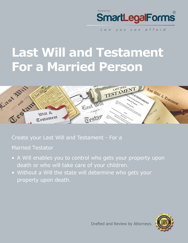 Last Will and Testament for a Married Person - SmartLegalForms