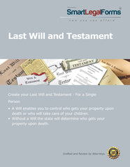 Last Will and Testament (Will for a Single Person) - SmartLegalForms