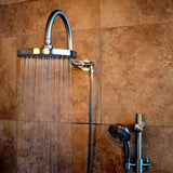 PULSE ShowerSpas Brushed-Nickel Shower System - Aqua Rain ShowerSpa
