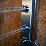 PULSE ShowerSpas Brushed Stainless Steel Shower System - Aloha ShowerSpa