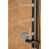 PULSE ShowerSpas Black Aluminum Shower System - Bonzai ShowerSpa
