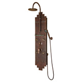 PULSE ShowerSpas Hammered Copper ORB Shower Panel - Navajo ShowerSpa
