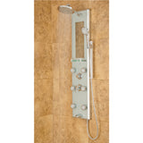 PULSE ShowerSpas Silver Glass Shower Panel - Kihei II ShowerSpa