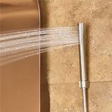 PULSE ShowerSpas Brushed Bronze Stainless Steel Shower Panel - Santa Cruz ShowerSpa