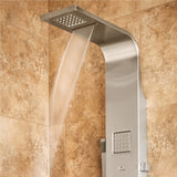 PULSE ShowerSpas Matte Brushed Stainless Steel Shower Panel - Waimea ShowerSpa