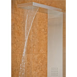 PULSE ShowerSpas Matte Brushed Stainless Steel Shower Panel - Oahu ShowerSpa