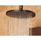 PULSE ShowerSpas Hammered Nickel Shower Panel - Vaquero ShowerSpa