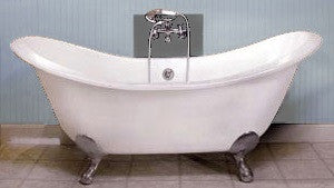 Taylor 71-inch Double Slipper Cast Iron Bathtub - Still Waters Bath - 4