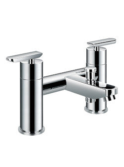 Modern Low Profile Chrome Deck-Mount Faucet - Still Waters Bath