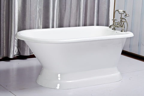 Tabitha 60-inch Roll Top Cast Iron Bathtub - Still Waters Bath - 1