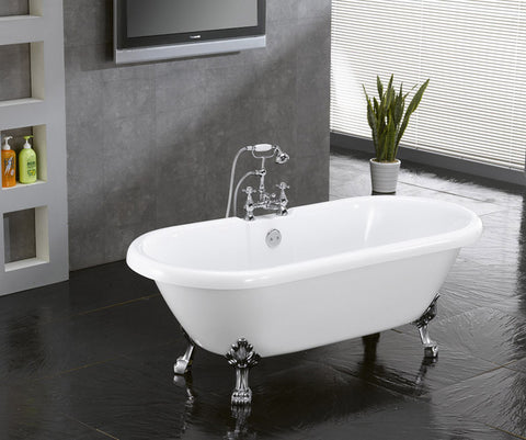 Christa 59-inch Dual Acrylic Bathtub - Still Waters Bath