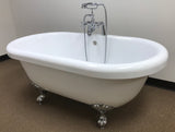 Paige 60-inch Dual Acrylic Bathtub with claw feet