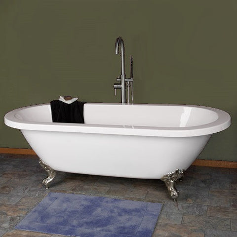 Elizabeth 70-inch Dual Acrylic Bathtub - Still Waters Bath