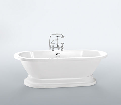 Edmond 70-inch Dual Acrylic Bathtub - Still Waters Bath