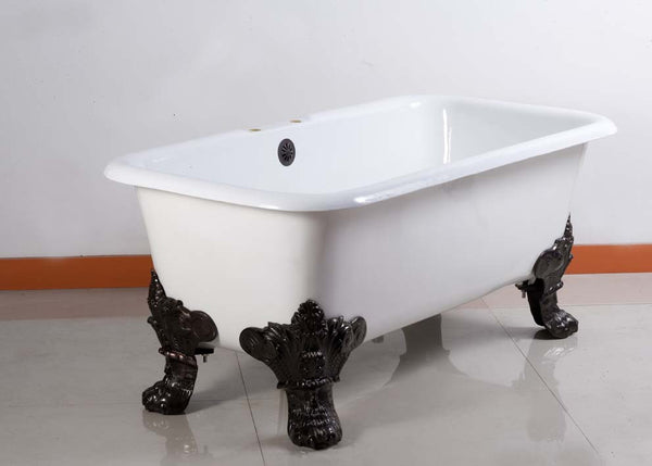 Bear 60-inch Cast Iron Dual Bathtub