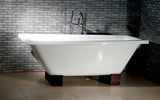 Nova 67-inch Rectangular Dual Cast Iron Bathtub - Still Waters Bath - 1