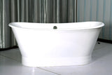 Kyle 67-inch skirted cast iron double slipper bathtub - Still Waters Bath - 3