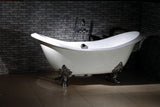Taylor 71-inch Double Slipper Cast Iron Bathtub - Still Waters Bath - 3