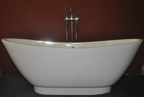 Weston 69-inch Double Slipper Acrylic Bathtub