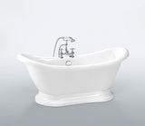 Beckett 69-inch Double Slipper Acrylic Bathtub
