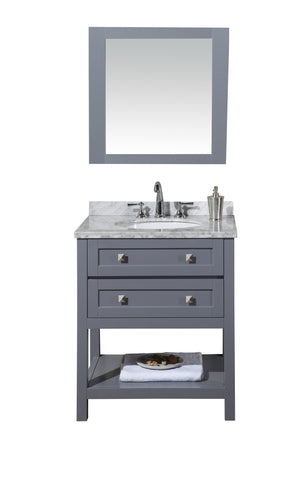 Marla 30-inch Single Sink Bathroom Vanity with Mirror - Still Waters Bath - 1