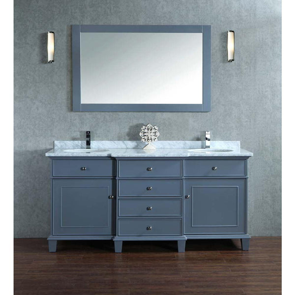 Cadence 60 Inch And 72 Double Sink Bathroom Vanity With Mirror Still