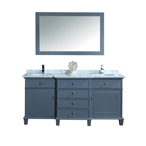 Cadence 60-inch and 72-inch Double Sink Bathroom Vanity with Mirror - Still Waters Bath - 2
