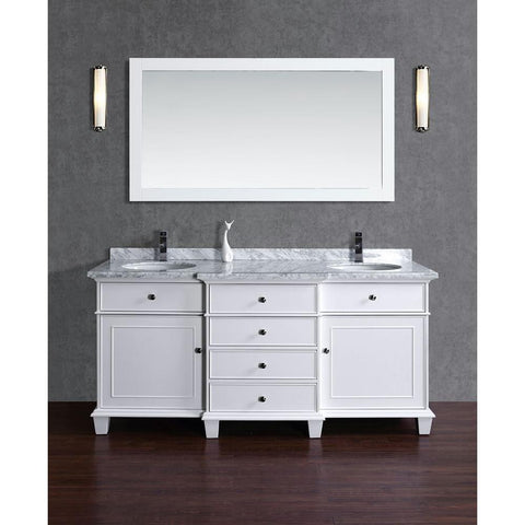 Cadence 60-inch and 72-inch Double Sink Bathroom Vanity with Mirror - Still Waters Bath - 1