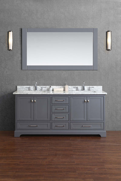 Newport 72-inch Double Sink Bathroom Vanity with Mirror - Still Waters Bath - 1