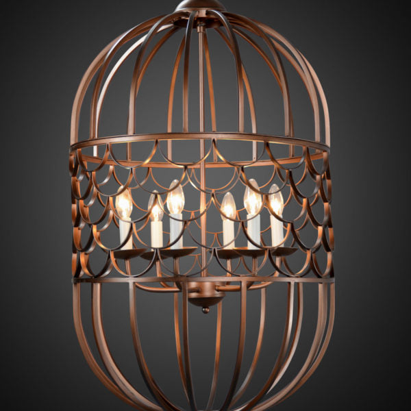 Legion Furniture Candle-Style Iron Chandelier Antique Brass Color