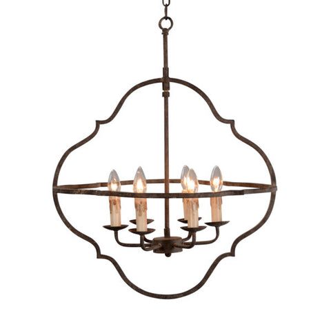 "Gorgeous 24"" Chandelier with 6 Lights, LR7086-24"