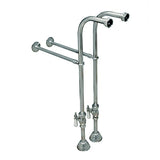 Hard Supply Lines for wall mount faucet with supports
