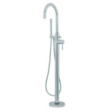 Freestanding Floor-Mount Modern Faucet with Hand Shower