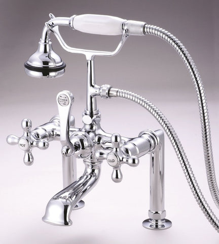 Deck-mount High-Profile Ornate Faucet with Hand Shower - Still Waters Bath - 1