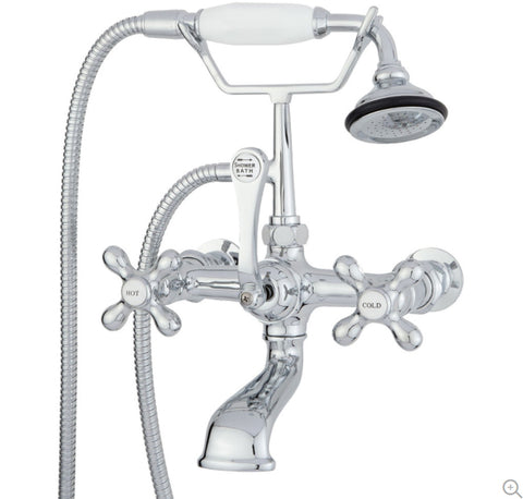 "Wall Mount British Telephone Faucet with 2"" Wall Extension"