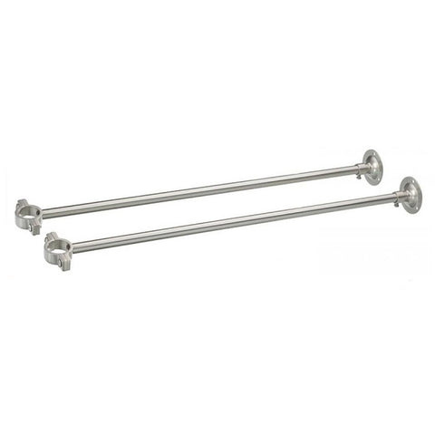 Wall mount support for freestanding tub faucets
