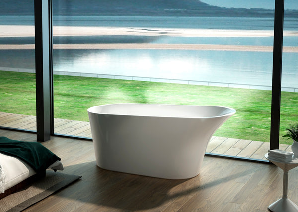 Pease 64-inch Roll Top Acrylic Bathtub