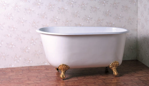 Elin 53-inch Swedish Roll Top Cast Iron Bathtub - Still Waters Bath