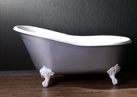 Sophia 57-inch Slipper Cast Iron Bathtub - Still Waters Bath - 1