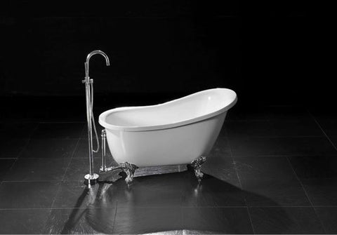 55 inch clawfoot tub. Heather 51 Inch And 55 Acrylic Slipper Bathtub  Still Waters Bath Acrylic Clawfoot Tubs