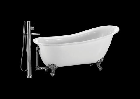 Heather 51-inch and 55-inch acrylic slipper bathtub