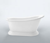 Preston 67-inch Slipper Acrylic Bathtub with Pedestal - Still Waters Bath - 2