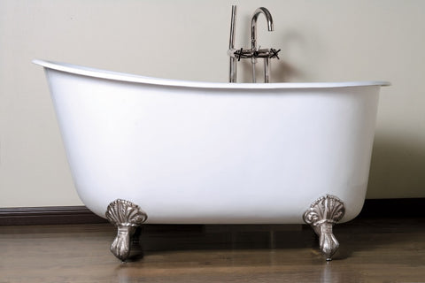 Charonne 53-inch or 57-inch Swedish Slipper Cast Iron Bathtub - Still Waters Bath