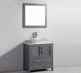 "30"" Solid Wood Sink Vanity with Mirror"
