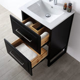 "24"" WOOD SINK VANITY WITH CERAMIC TOP-NO FAUCET"