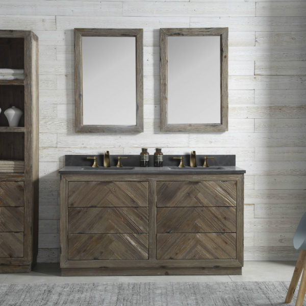 Hazel Wood 60'' Double Bathroom Vanity Set