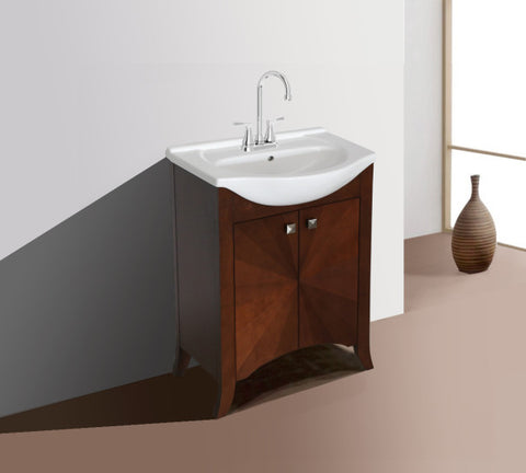 "24"" Royal Walnut Sink Vanity, no Faucet"