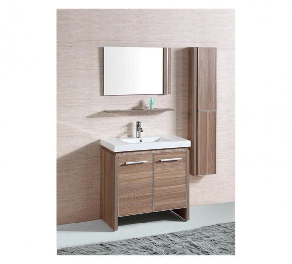 Sink Vanity with Mirror and Side Cabinet